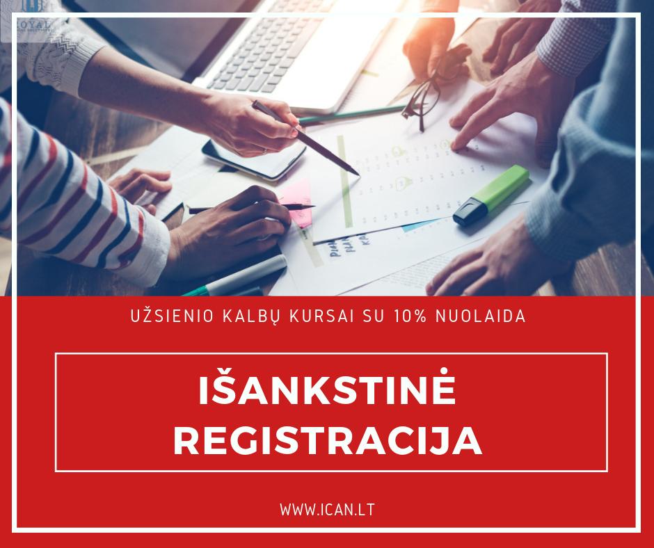 Išankstinė registracija į kalbų kursus Kaune su 10% nuolaida!