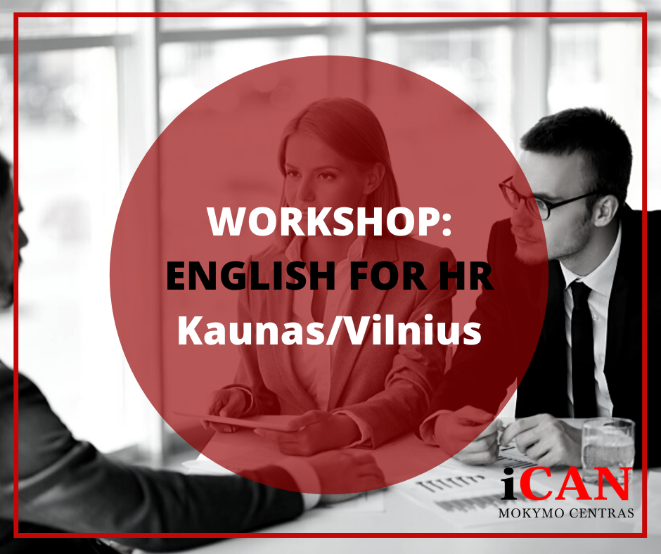 Workshop: ENGLISH FOR HR VILNIUJE IR KAUNE!